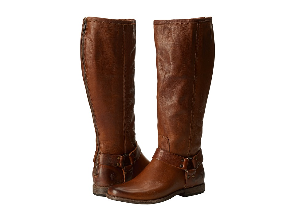 Frye Phillip Harness Tall Extended (Cognac Extended) Women