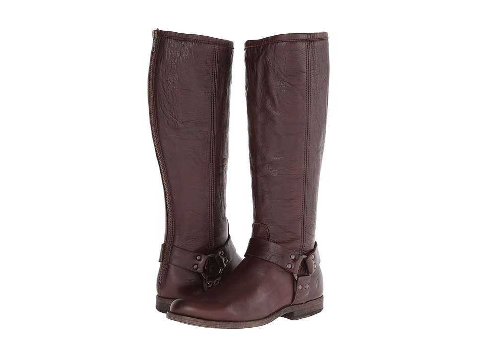 Frye - Phillip Harness Tall Extended (Dark Brown Extended) Women's Pull-on Boots