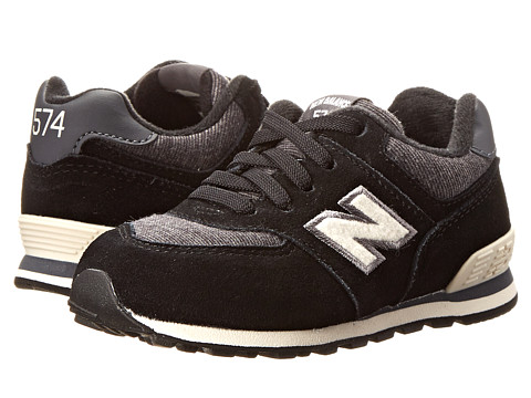 New Balance Kids - KL574 (Infant/Toddler) (Black/White) Boys Shoes