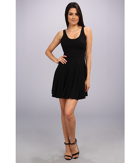 Amanda Uprichard - Backless Skater Dress (Black) Women's Dress
