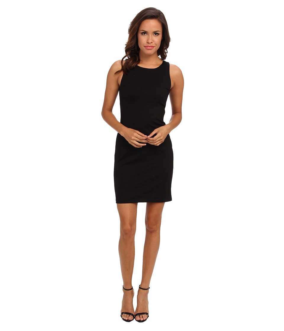 Amanda Uprichard - Ponte Ladder Back Dress (Black) Women's Dress