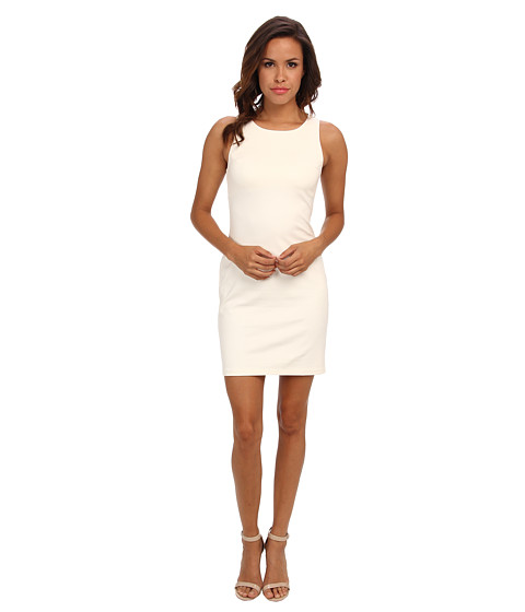 Amanda Uprichard - Ponte Ladder Back Dress (Ivory) Women's Dress