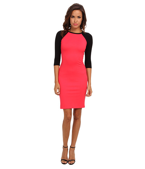 Amanda Uprichard - Baseball Dress (Electric Rouge/Black Electric) Women's Dress