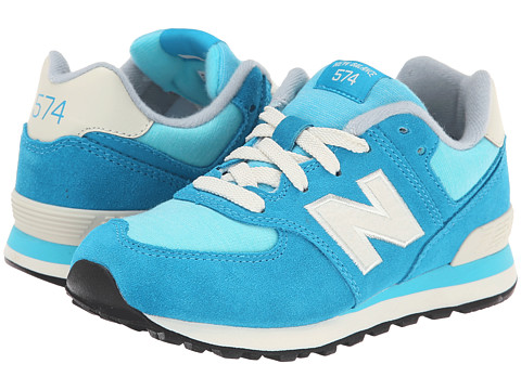 New Balance Kids - KL574 (Little Kid) (Blue/White) Girls Shoes