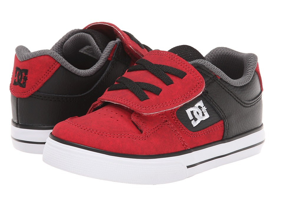 DC Kids - Pure SE V (Toddler) (Deep Red) Boys Shoes
