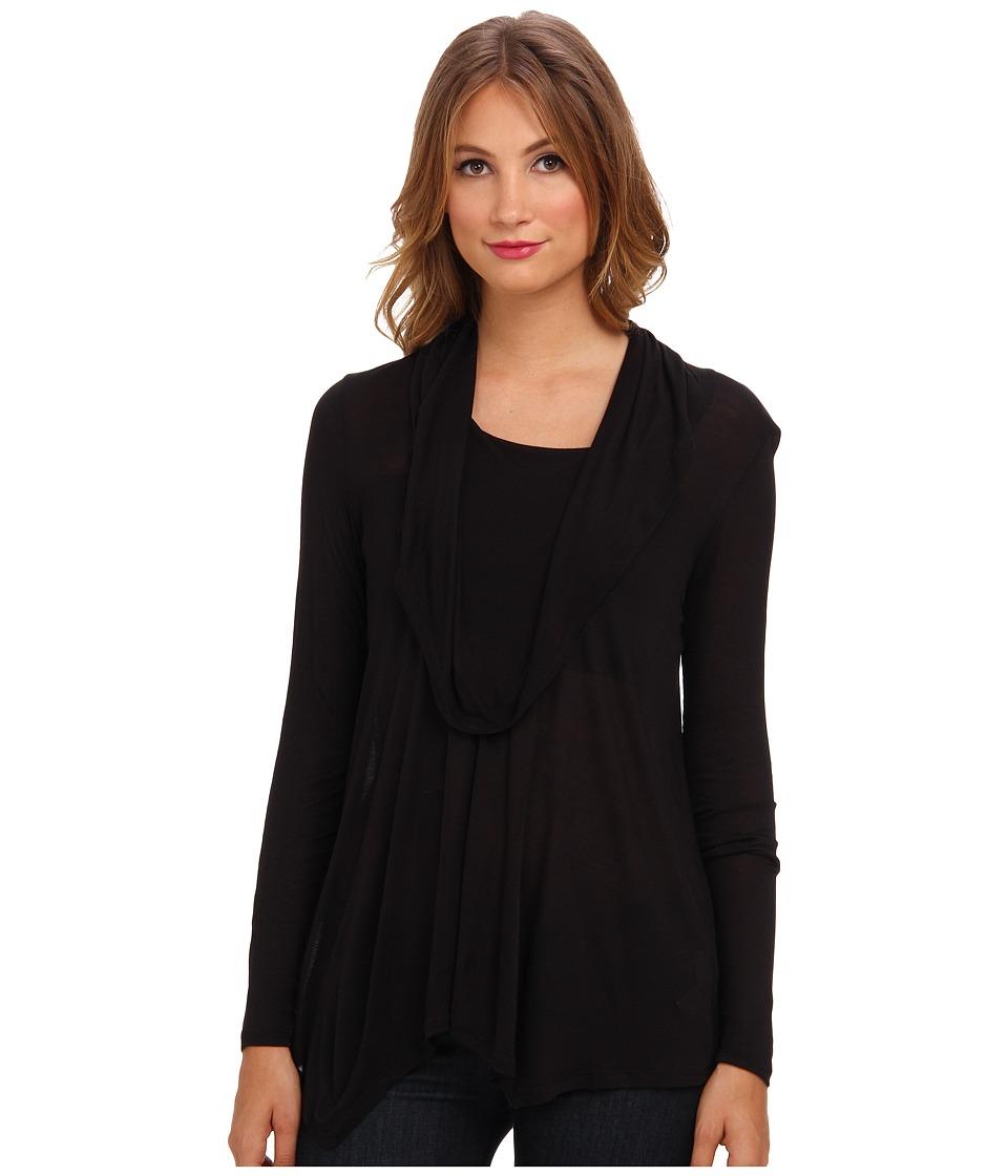 kensie - Viscose Tee (Black) Women's T Shirt