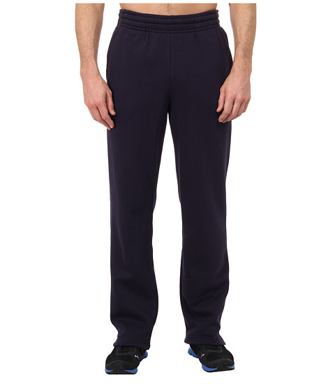 PUMA - Fleece Open Sweat Pant (New Navy/White Cat) Men's Casual Pants