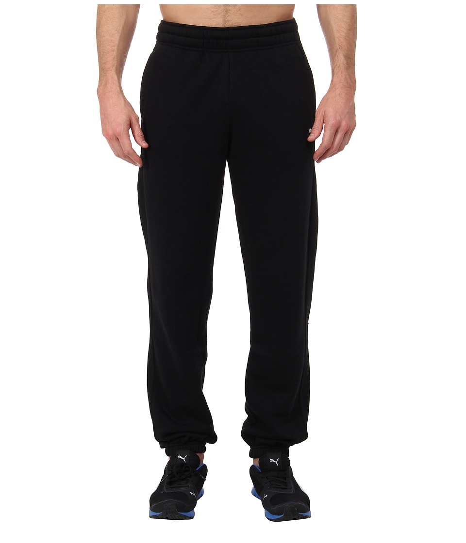 PUMA - Fleece Closed Sweat Pant (Black) Men's Casual Pants