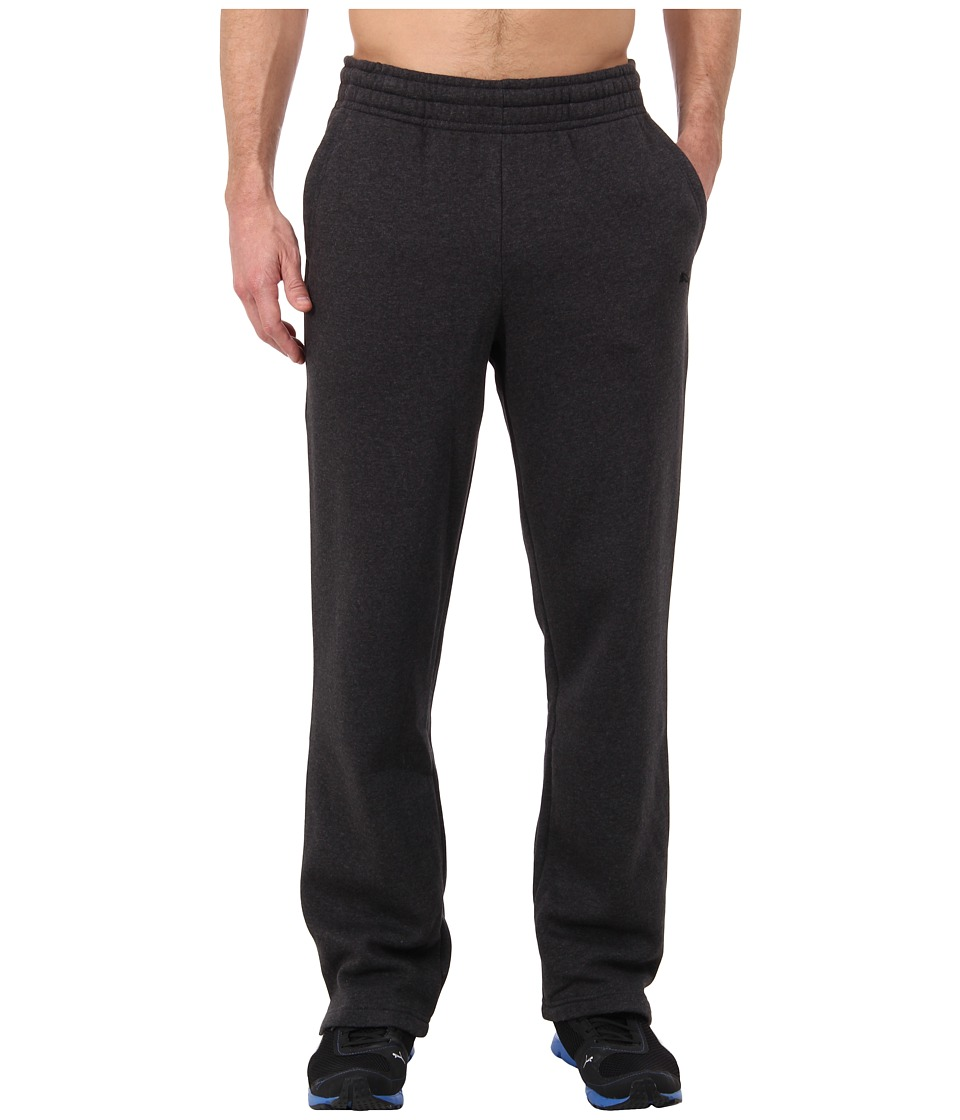 PUMA - Fleece Open Sweat Pant (Dark Gray Heather) Men's Casual Pants