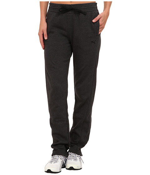 PUMA - Open Terry Sweatpant (Dark Gray Heather) Women's Casual Pants