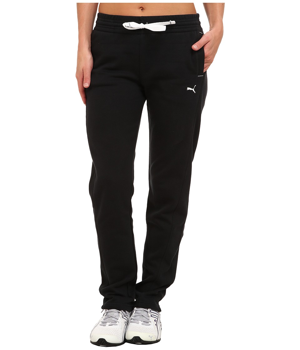 PUMA - Open Terry Sweatpant (Black) Women's Casual Pants