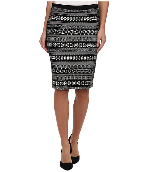 Karen Kane - Alpine Jacquard Pencil Skirt (BWW) Women