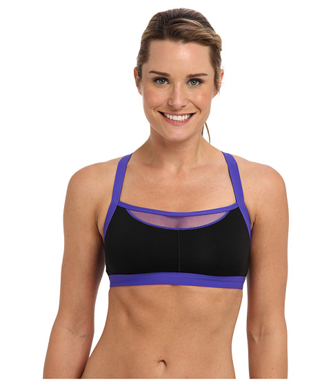 Josie - Amp'd Sport Tank 847170 (Royal Purple/Black) Women's Bra