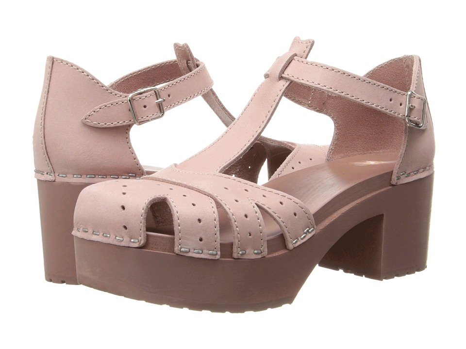 Swedish Hasbeens - Plateau Sandal (Dirty Pink/Dirty Pink) High Heels