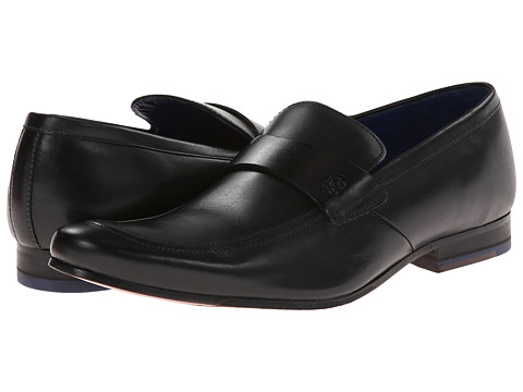 Ted Baker - Fotiu (Black Leather) Men's Slip on Shoes