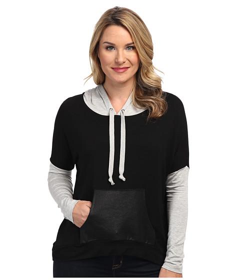Karen Kane - Kangaroo Pocket Hoodie (BGY) Women's Sweatshirt
