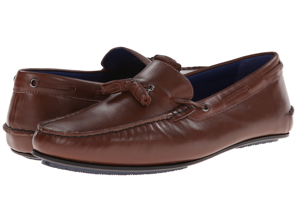 Ted Baker - Muddi (Tan Leather) Men's Slip on Shoes