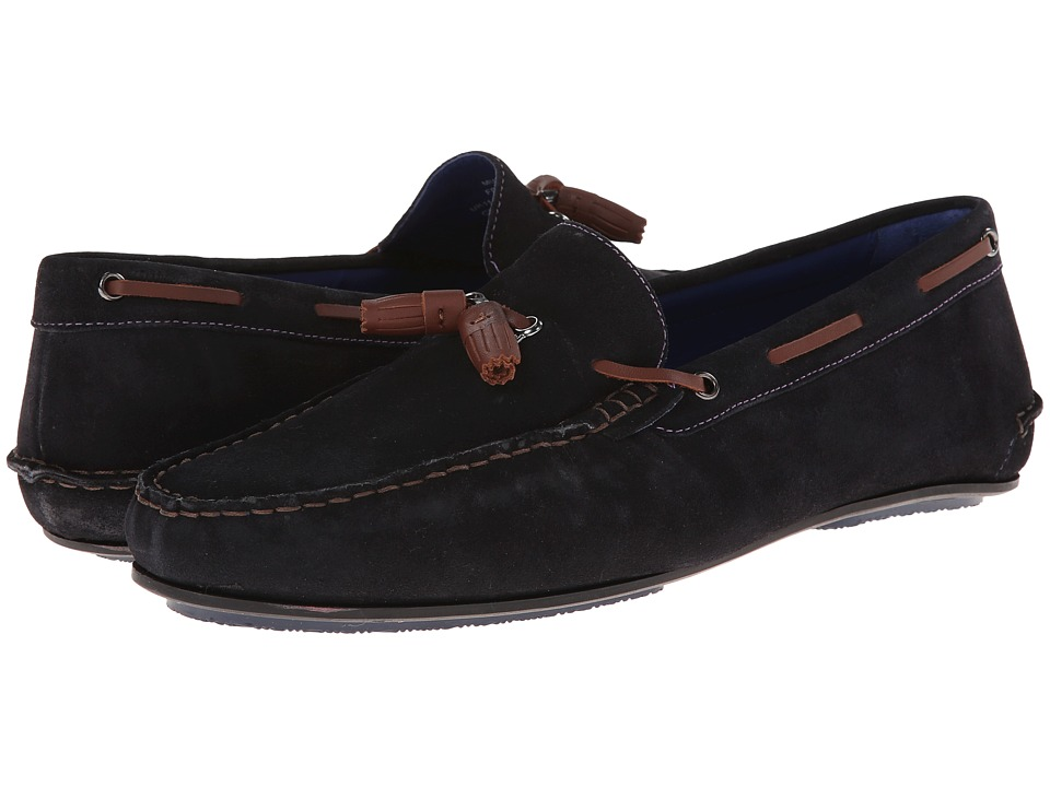Ted Baker - Muddi (Dark Blue Suede) Men's Slip on Shoes
