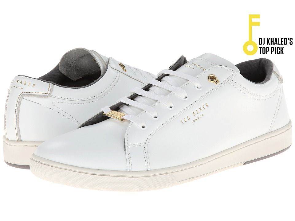 Ted Baker - Theeyo (White Leather) Men's Lace up casual Shoes