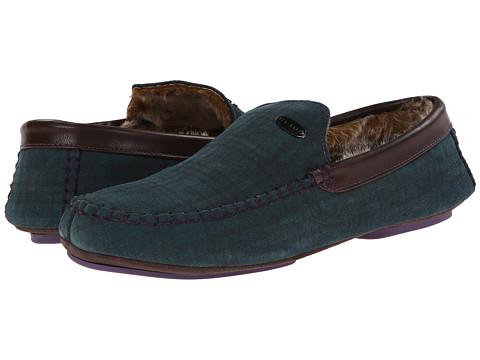 Ted Baker - Ruffas (Green Suede) Men's Slip on Shoes