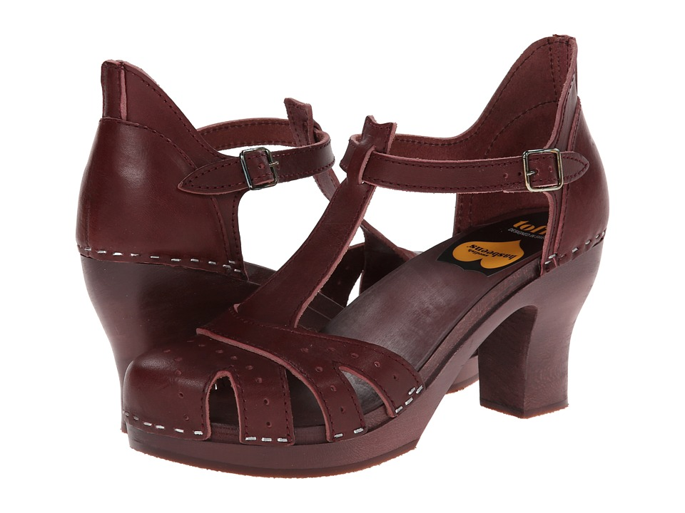 Swedish Hasbeens - Antique Sandal (Bordeaux/Bordeaux) Women