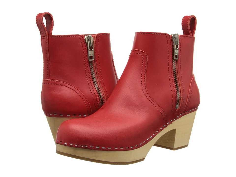 Swedish Hasbeens - Zip It Emy (Red) Women's Zip Boots
