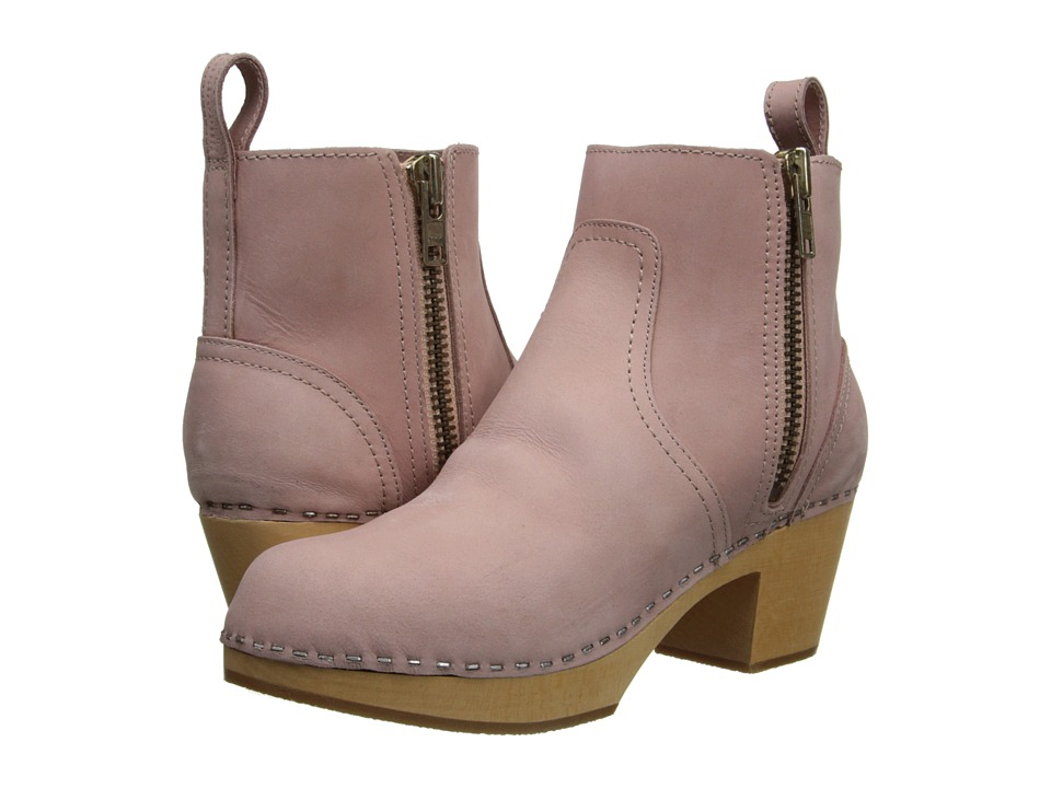 Swedish Hasbeens - Zip It Emy (Dirty Pink) Women's Zip Boots