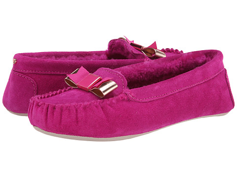 Ted Baker - Sarsone (Dark Pink Suede) Women's Slip on Shoes