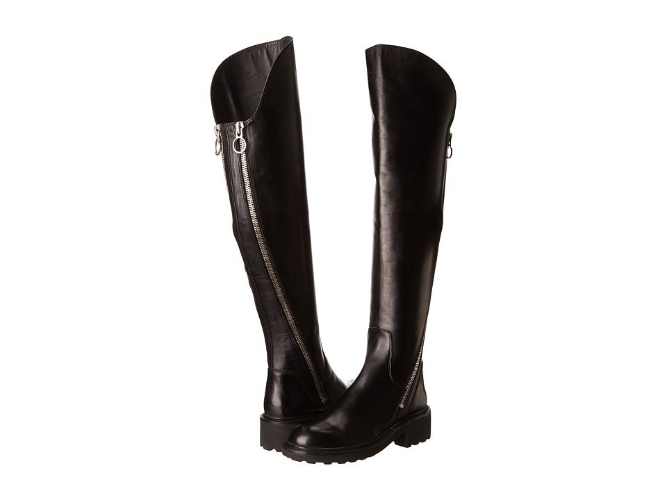ASH - Seven (Black Box Calf) Women's Zip Boots