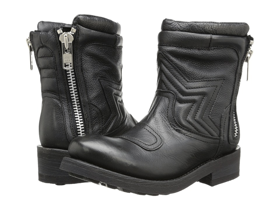 Ash Texas (Black Destroyer Nappa) Women's Zip Boots