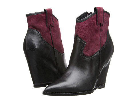 ASH - Jude (Black/Bordeaux Box Calf) Women's Dress Zip Boots