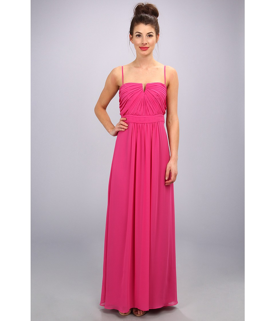 Laundry by Shelli Segal - Shirred Gown (Watermelon) Women's Dress