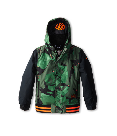 686 Kids - Authentic Junior Varsity Insulated Jacket (Big Kids) (Green Camo Glo) Boy's Jacket