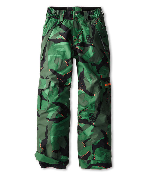 686 Kids - Authentic Ridge Insulated Pant (Little Kids/Big Kids) (Green Camo Glo) Boy