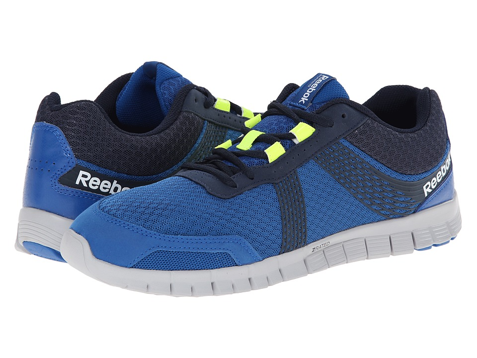 Reebok - Z Fury Tempo (Impact Blue/Collegiate Navy/Steel/Solar Yellow) Men's Running Shoes