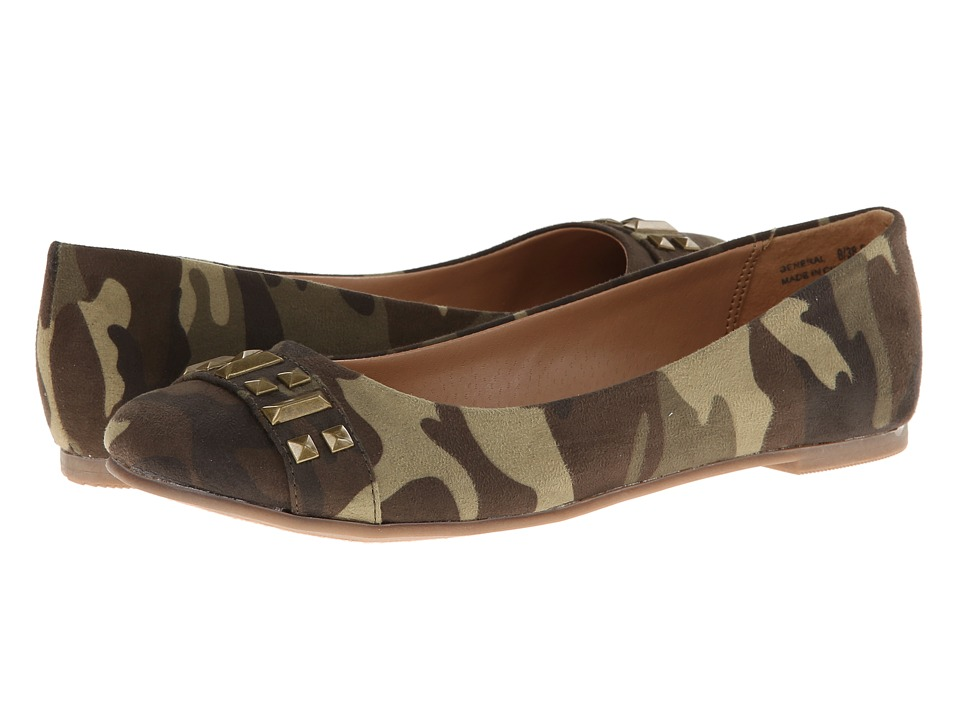 CL By Laundry - General Super (Camouflage Suede) Women's Flat Shoes