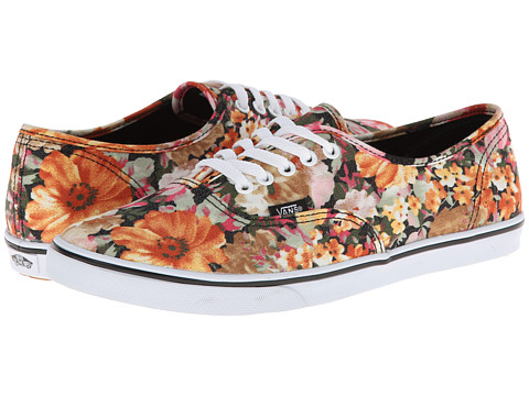 Vans - Authentic Lo Pro ((Floral) Coriander/True White) Skate Shoes