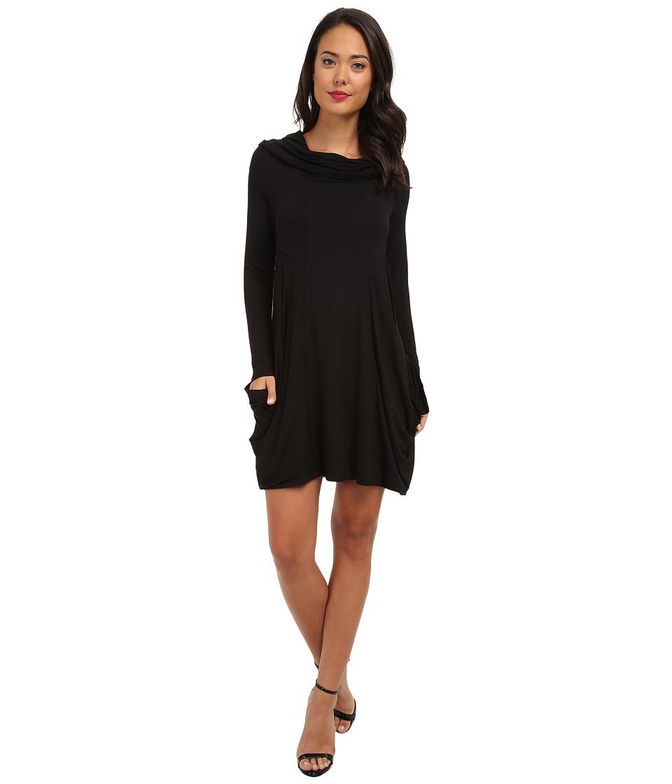 kensie - Cowl Neck Pocket Dress (Black) Women's Dress