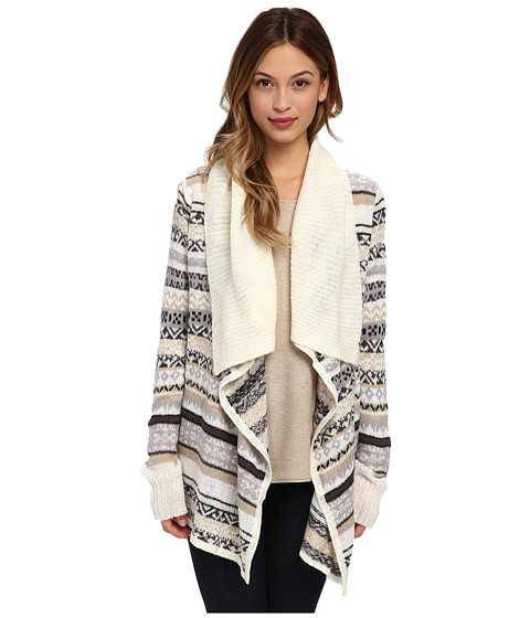 kensie - Tissue Knit Cardigan (String Combo) Women's Sweater