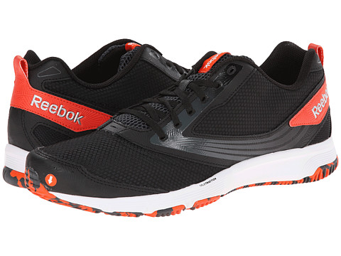 Reebok - Truetraction Thrill (Winter Pack/Black/Gravel/Flux Orange/Matte Silver/White) Men's Running Shoes