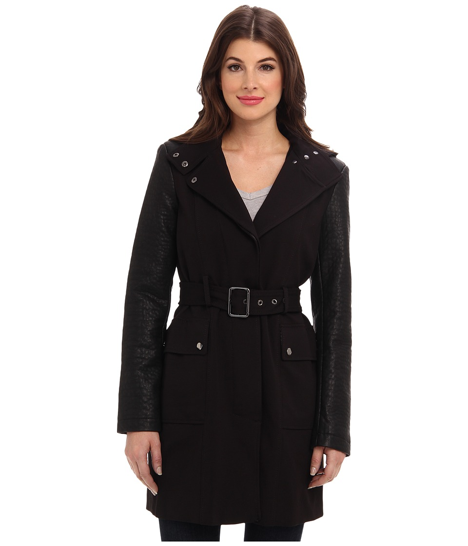 Vince Camuto - Soft Shell Hooded Jacket G8031 (Black) Women's Coat