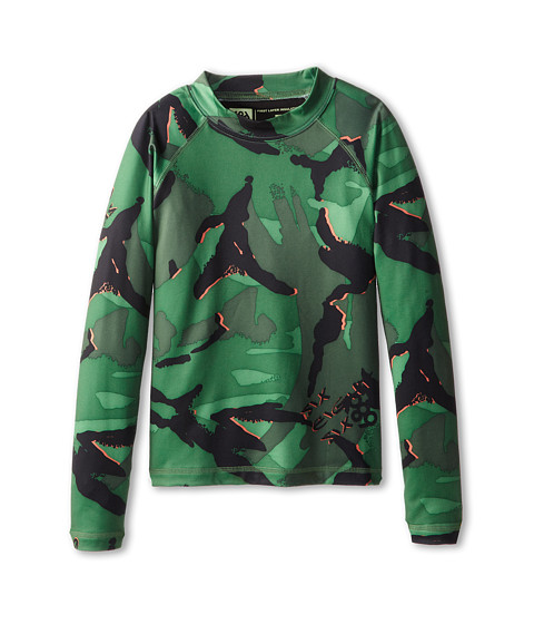 686 Kids - Camo Base Top (Big Kids) (Green Camo Glo) Boy