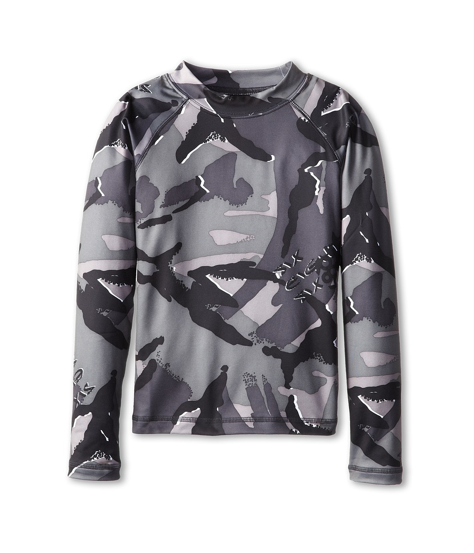 686 Kids - Camo Base Top (Big Kids) (Grey Camo Glo) Boy's Long Sleeve Pullover