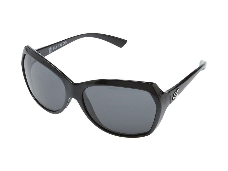 Kaenon - Shilo (Shiny Black/Gunmetal/Grey G12) Sport Sunglasses