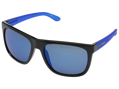 Arnette - Fire Drill (Black/Blueberry/Blue Mirror) Sport Sunglasses