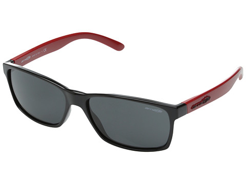 Arnette - Slickster (Gloss Black Red/ Grey) Sport Sunglasses