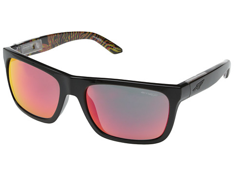 Arnette - Dropout (Gloss Black Orange/Red Mirror) Sport Sunglasses