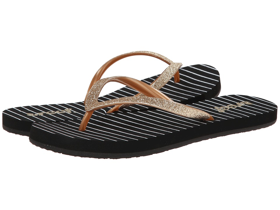 Reef - Stargazer Prints (Black/Gold/Stripes) Women's Sandals