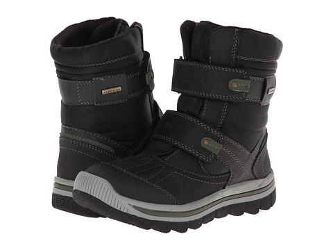 Geox Kids - Jr Overland B ABX Weather Boot (Little Kid/Big Kid) (Black/Military) Boy's Shoes