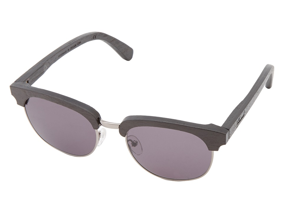 Shwood - Eugene (Dark Walnut Silver - Grey) Sport Sunglasses